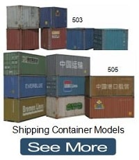 railroad model cardboard shipping containers