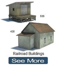 crossing shanty model railroad buildings
