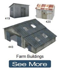 farm buildings oo gauge models