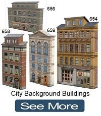 miniature railway house paper models